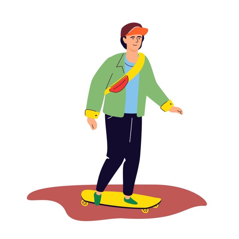 Storyworlding Employee Skateboarding